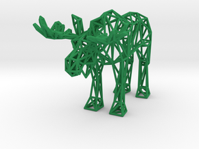 Moose (adult male) in Green Processed Versatile Plastic