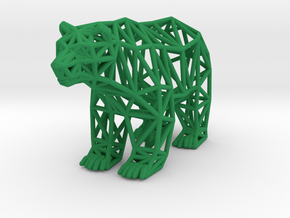 Grizzly Bear (adult) in Green Processed Versatile Plastic