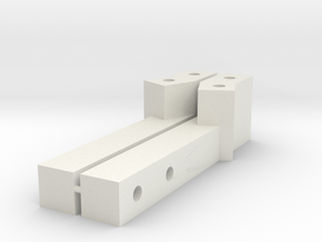 EX Real Relocation Long Servo mounts in White Natural Versatile Plastic