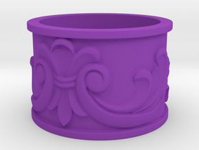 Flourish Ring in Purple Processed Versatile Plastic: 4 / 46.5