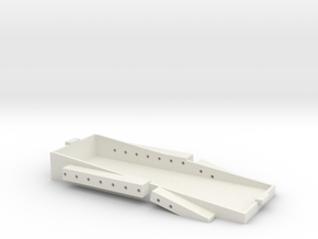 3Racing EX Real Relocation Battery Tray in White Natural Versatile Plastic