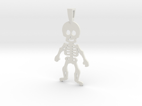 SKELETON in White Natural Versatile Plastic