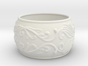 Lady Warrior bracelet in White Natural Versatile Plastic: Medium