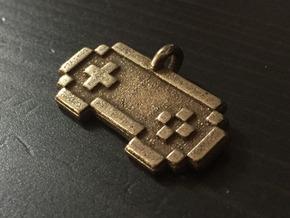Cheat Coders Keychain in Polished Bronze Steel
