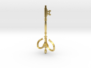Illusion key in Polished Brass