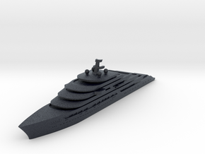 Miniature Gleam Project Super Yacht - Nauta Design in Black Professional Plastic