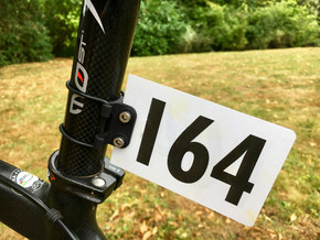 Frame Number Holder - Round Seatpost in Black Natural Versatile Plastic