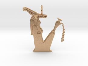 Kebehwet amulet (Serpent version) in Natural Bronze