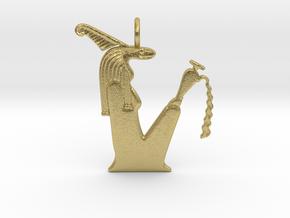 Kebehwet amulet (Serpent version) in Natural Brass