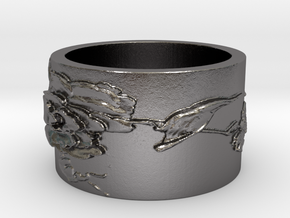 Hummingbird v2 Ring  in Polished Nickel Steel: 4 / 46.5