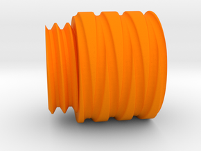 Orange Tip (11mm Clockwise Threaded for Airsoft WE in Orange Processed Versatile Plastic