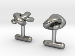 Love knots cufflinks in Natural Silver