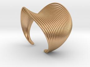 VEIN Cuff Bracelet in Natural Bronze: Small