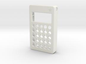 PO case front w/ mic holes in White Natural Versatile Plastic