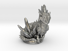 Crystal Dragon 54mm in Natural Silver