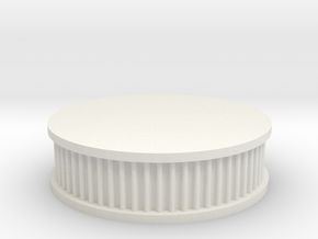 air filter round 1/10 in White Natural Versatile Plastic