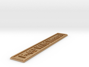 Nameplate F-4G Wild Weasel in Natural Bronze
