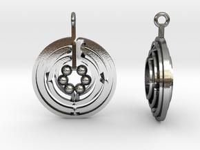 Asterión earrings in Polished Silver