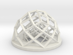 Hexagonal pencil holder  in White Natural Versatile Plastic