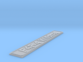 Nameplate F4F-4 Wildcat in Smoothest Fine Detail Plastic