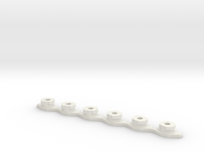6x VF-1 Hard Points in White Natural Versatile Plastic: 1:60