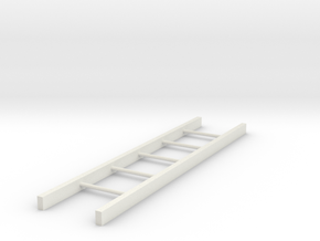 ladder 150mm 1/10 in White Natural Versatile Plastic