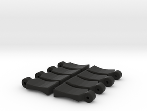 Body Clip Pull Tab in Black Natural Versatile Plastic