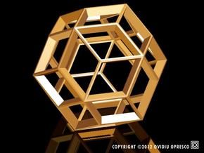 Polyhedral Sculpture #22 in White Strong & Flexible Polished