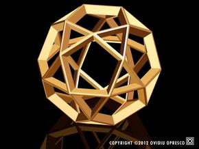 Polyhedral Sculpture #21 in Matte Gold Steel