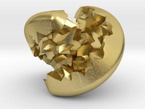 Geode Sphericon in Natural Brass