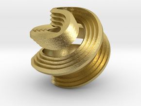 Octasphericon Stepped in Natural Brass