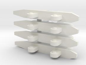 4x Single Pylons for VF-1  in White Natural Versatile Plastic: 1:60