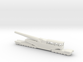 381/40 Italian railway artillery ww1 1/200 in White Natural Versatile Plastic