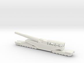 381/40 Italian railway artillery ww1 1/200 in White Natural Versatile Plastic