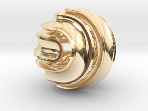 Nonasphericon Groove in 14k Gold Plated Brass