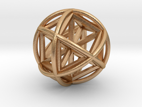 Vector EquilibriSphere w/Nested Vector Equilibrium in Natural Bronze