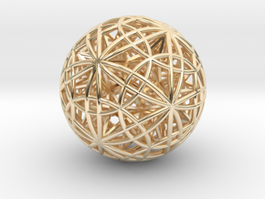 """Sphere of Sacred Union 2.5"""" (No Bale) in 14K Yellow Gold"""