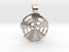 Prime's spiral [pendant] in Rhodium Plated Brass