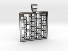 Primes's grid [pendant] in Polished Silver
