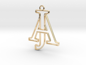 Monogram with initials A&J in 14k Gold Plated Brass