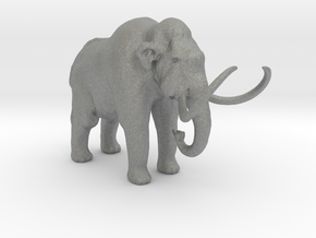 HO Scale Woolly Mammoth in Gray Professional Plastic