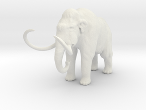 O Scale Woolly Mammoth in White Natural Versatile Plastic