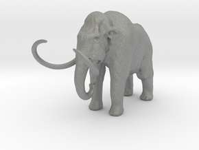 O Scale Woolly Mammoth in Gray PA12
