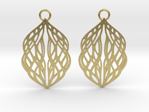 Stream earrings in Natural Brass: Small