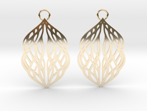Stream earrings in 14k Gold Plated Brass: Small