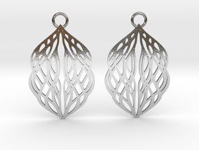 Stream earrings in Polished Silver: Small