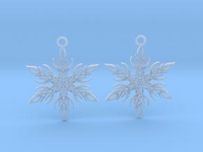Snowflake earings in Smooth Fine Detail Plastic