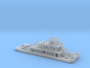 Pusher Boat N Scale in Smooth Fine Detail Plastic