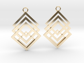Geometrical earrings no.1 in 14k Gold Plated Brass: Small