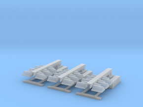 1/43 Light Tower set of 3 in Smooth Fine Detail Plastic